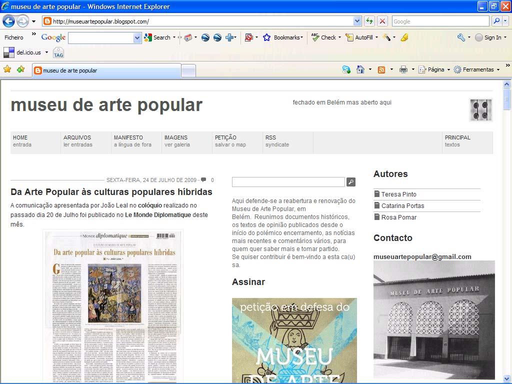 Blogue Museu Arte Popular