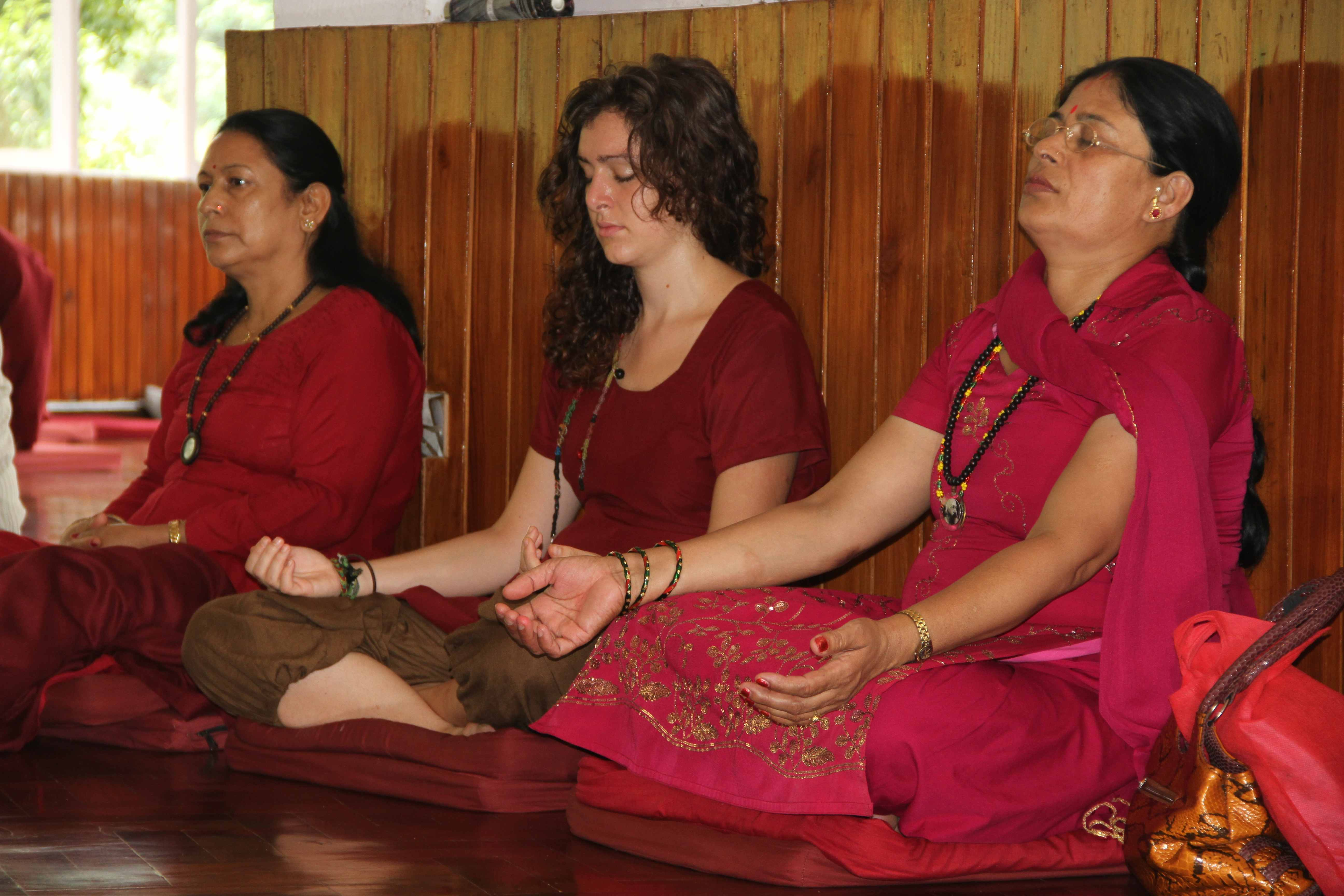 Osho meditation, Kathmandu, 2012