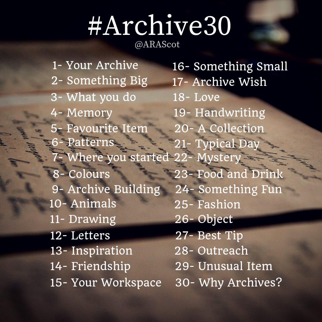 Themen der #Archive30-Aktion der Archives and Records Association, Scotland 2019