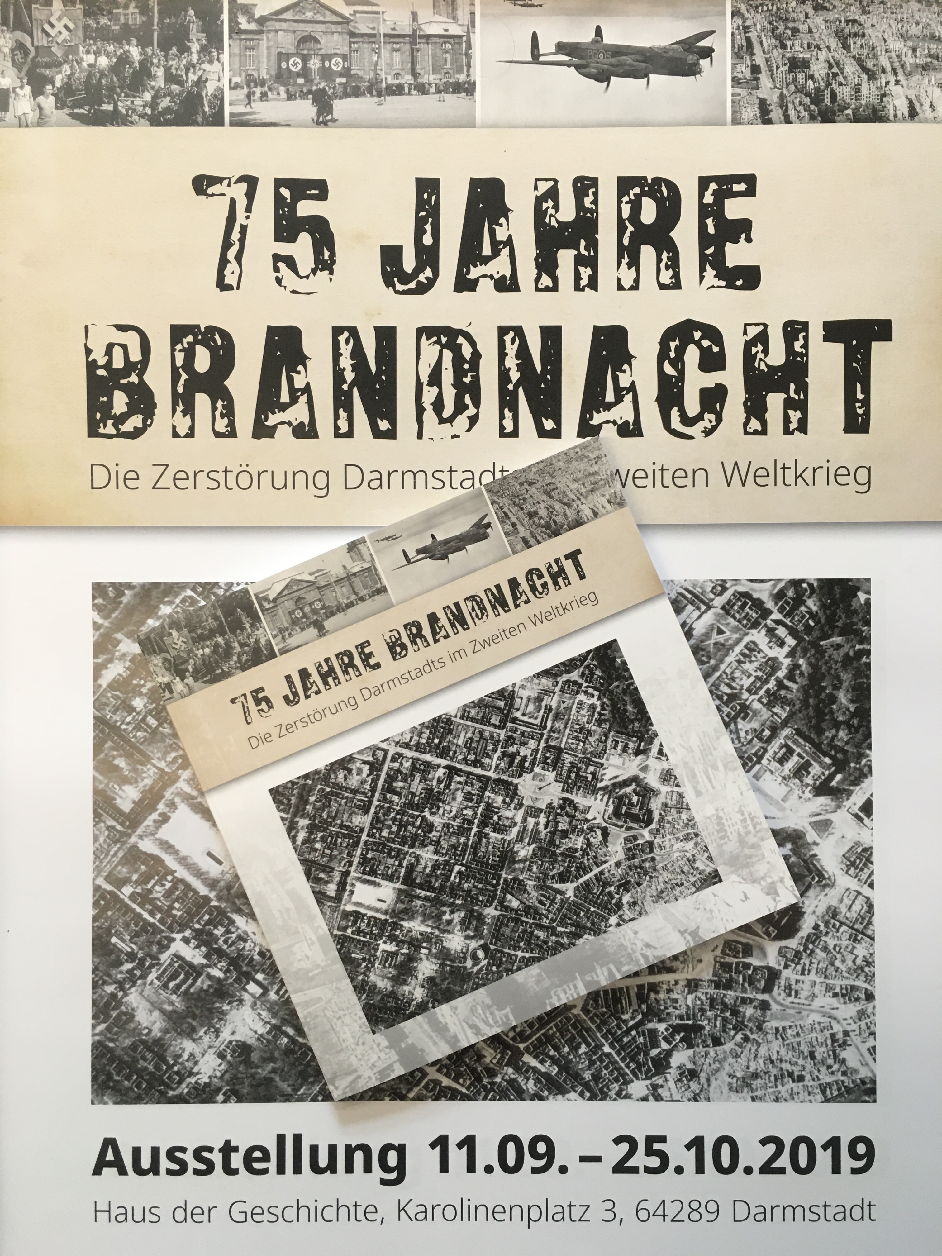 """Katalog zur Ausstellung """"75 Jahre Brandnacht - Die Zerstörung Darmstadts im Zweiten Weltkrieg"""" jetzt erhältlich"""