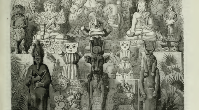 1867: Aztec idols at the Paris World Fair