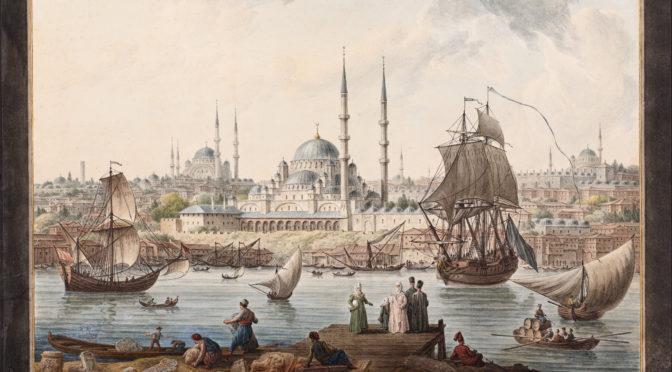 1789: Die Verschiffung von Altertümern vor der Kulisse Konstantinopels