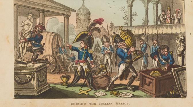 1815: Karikatur des napoleonischen Kunstraubs in Italien