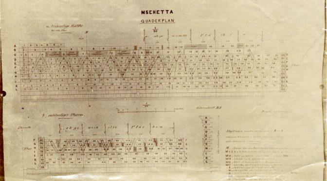 1904: Quaderplan eines Wüstenschlosses