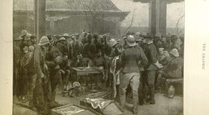1900: The Auction of loot in Peking during the Boxer Rebellion
