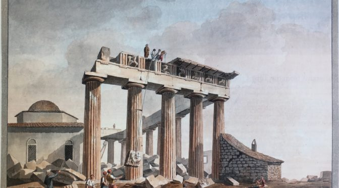 1801: Removal of Sculptures from the Parthenon by Lord Elgin's Men