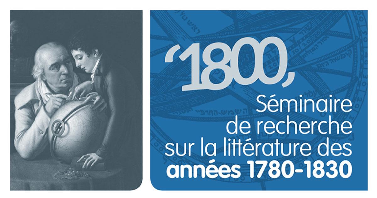 1800 : la littérature des années 1780-1830