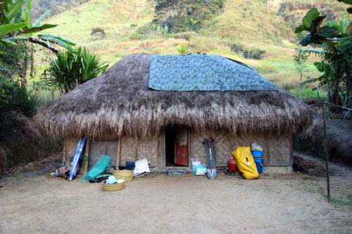 The house lent by the Manim community used by the research team.
