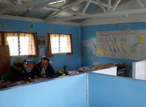 Various data collection stations at St Therese's School at Denglagu mission.
