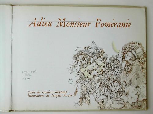 Adieu Monsieur Poméranie