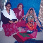 """Dr Charu Gidwani (centre) """"at home"""" with friends, in the Sindhi-speaking area of Banni"""