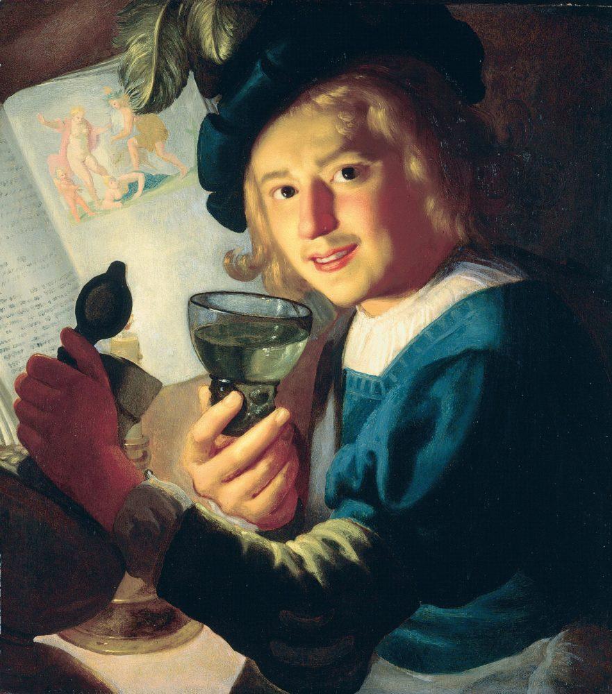 540-Honthorst-Junger-Trinker