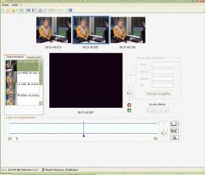 Fig.1 : La  vidéo-source originale, segmentée