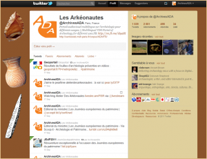 Les réseaux sociaux de l'Atelier Des Arkéonautes (2) – Twitter