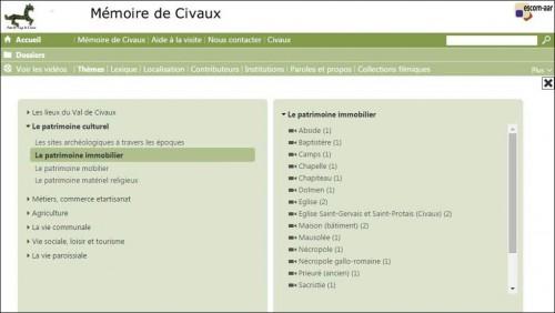 Acces videotheque1 Memoire de Civaux