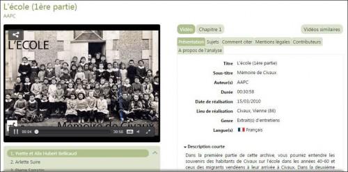 Archive audiovisuelle Ecole_Civaux
