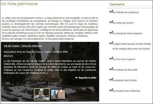 Dossier audiovisuel Civaux