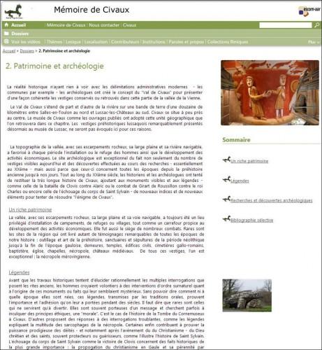 Dossier Patrimoine et archéologie_Civaux