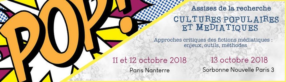 Assises de la recherche Cultures populaires et médiatiques 2018