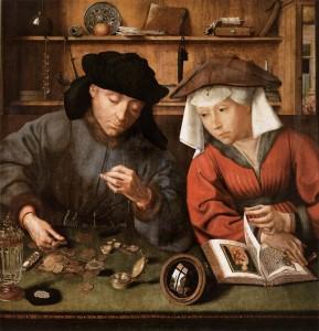 Le peseur d'or et sa femme, Quantin Massys