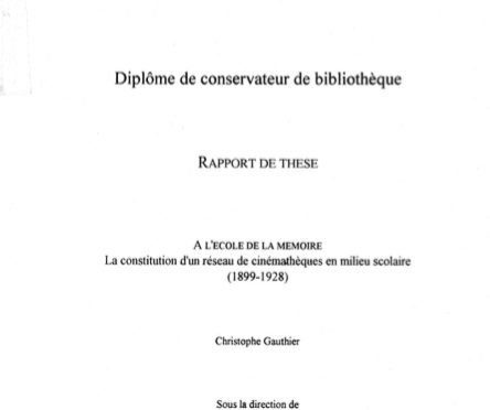 Christophe Gauthier – A l'école de la mémoire