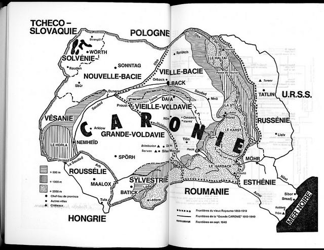 Carte de la Caronie, Roman Roi, Renaud Camus