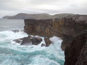 Vista del cabo de Ajo, en Cantabria.