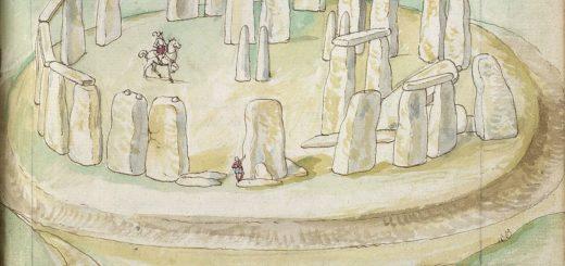 Stonehenge, aquarelle par Lucas de Heere