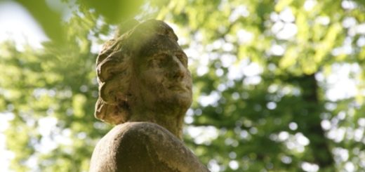 Statue -- Palace garden in Walewice, Polanda garden