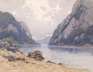 Fritz Lach -- Die Donauenge Kazan