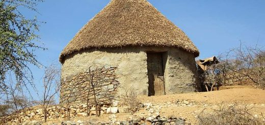 Traditional house of the Bilen people