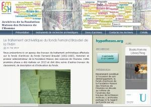 Carnet Archives de la FMSH