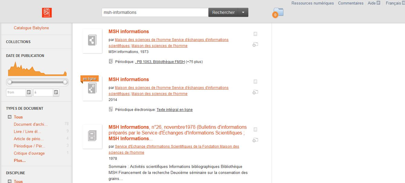 Signalement de MSH-Informations dans BabylonePLUS