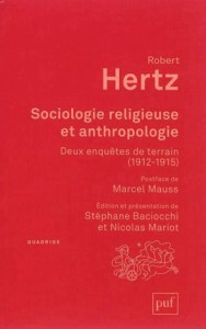 Robert Hertz, Sociologie religieuse et anthropologie