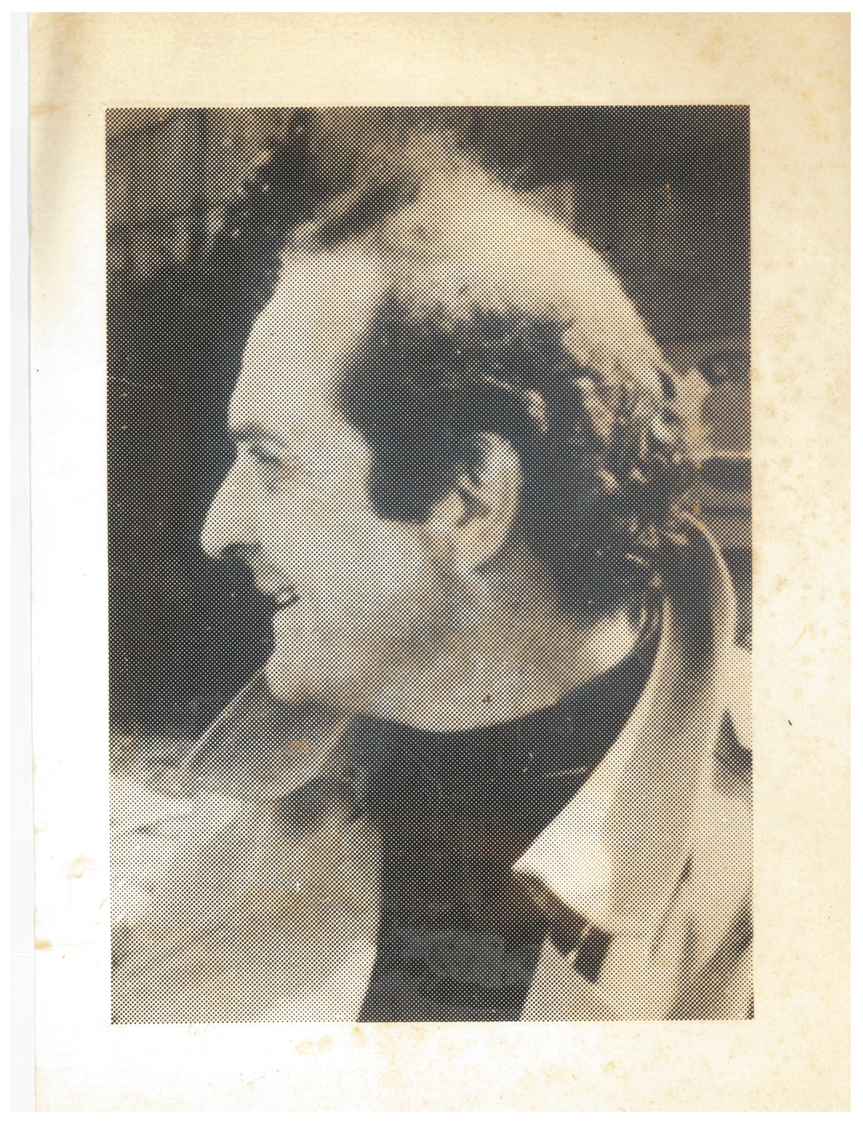 Portrait de profil de Georges Haupt (non daté, auteur inconnu)
