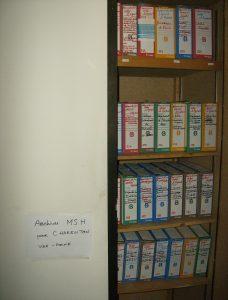 Archives prêtes pour le déménagement, en décembre 2010