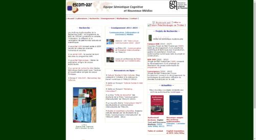 Accueil du site de l'ESCoM