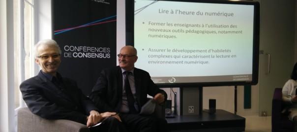 Michel Lussault et Jean-Emile Gombert