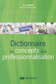 L'actualité du CRF : Dictionnaire des concepts de la professionnalisation