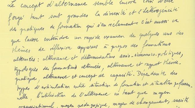 Marcel Lesne. Cheminement d'un théoricien de la formation