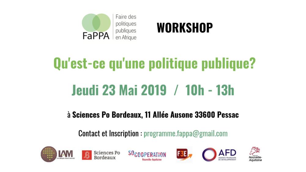 FAIRE DES POLITIQUES PUBLIQUES EN AFRIQUE