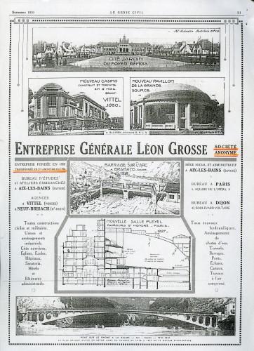 Publicité pour l'Entreprise Générale Léon Grosse