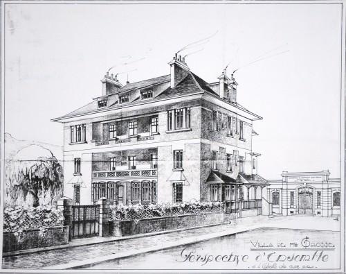 Villa de M. Grosse. Perspective d'ensemble