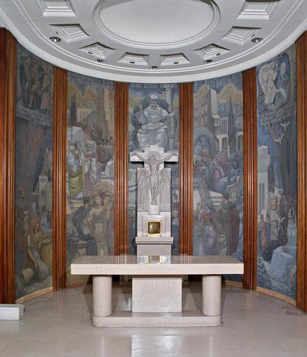 Choeur, peintures de Jean Coquet, état actuel