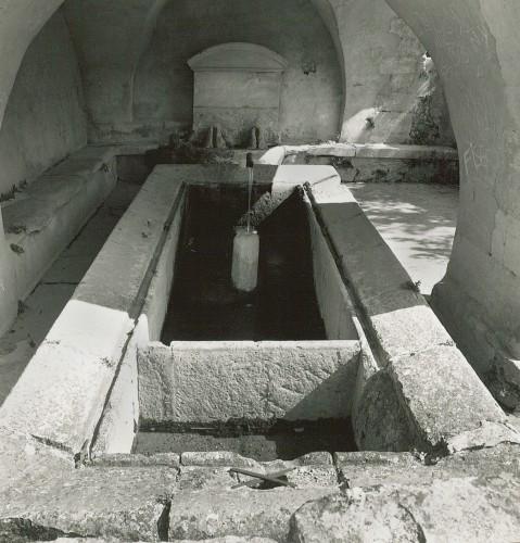 Chamaret, le Colombier. Vue d'ensemble de la Grande Fontaine, datée de 1781.