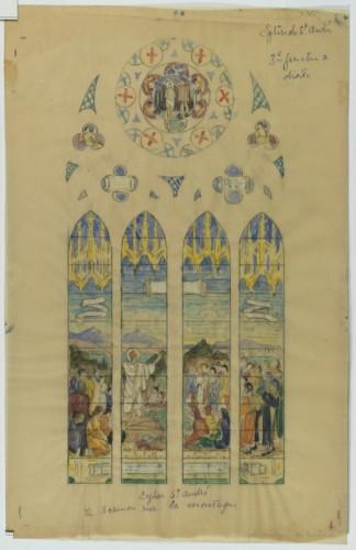 E. Bégule, esquisse pour Le Sermon sur la montagne.
