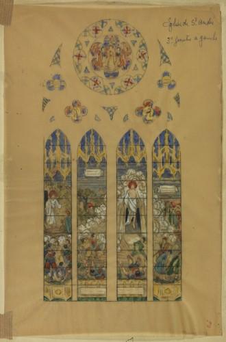 E. Bégule, esquisse pour La Résurrection.