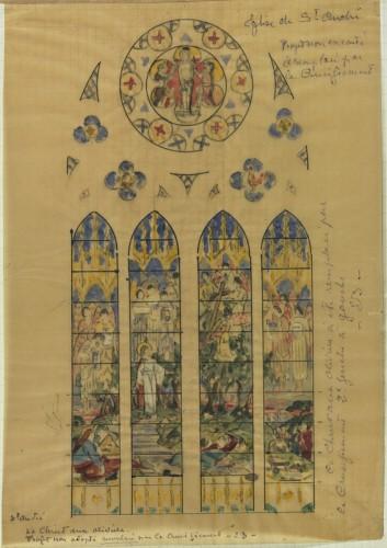 E. Bégule, esquisse pour Le Christ au jardin des oliviers.