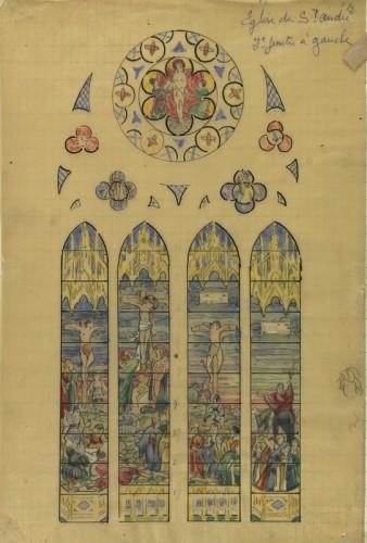 E. Bégule, esquisse pour La Crucifixion (archives diocésaines de Lyon, I I 1199).
