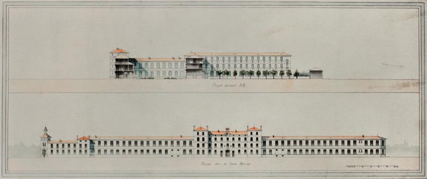 Avant-projet d'un lycée de garçons à ériger à Grenoble, par Emile Vaudremer